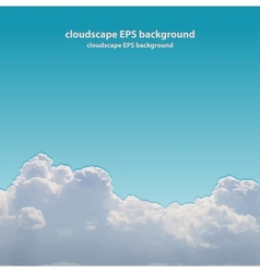 Summer beautiful cloudscape vector