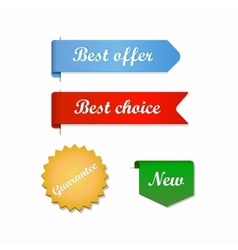 Best offer choice ribbons vector image