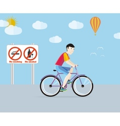 Bicycle tourism sport vector