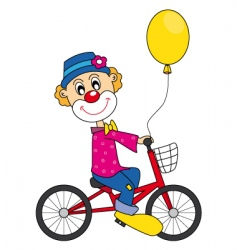 clown bike vector image