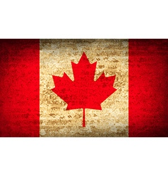 Flags canada with dirty paper texture vector