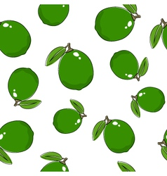 Seamless pattern of lime vector