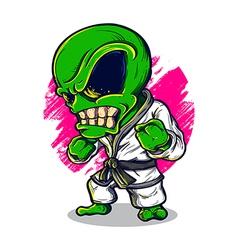 Alien karate vector