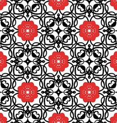 Floral geometric pattern design vector