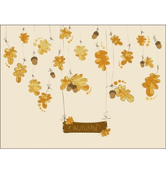 Autumn greeting card vector