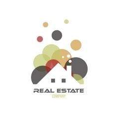 Real estate circle bubble logo icon vector image