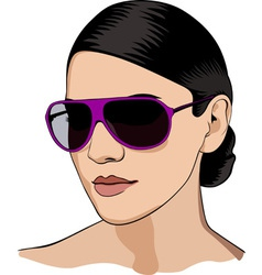 Girl in glasses vector image