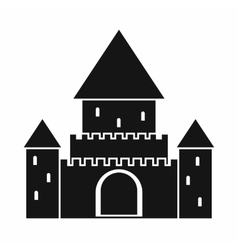 Chillon castle switzerland icon simple style vector