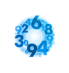 abstract circle numbers blue vector image vector image