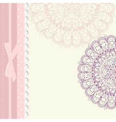 Baby frame vintage with lace vector image