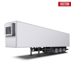 Blank white parked semi trailer vector