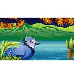 Cartoon Riverside Bird vector image vector image