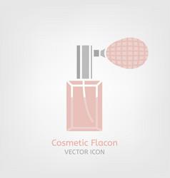 Cosmetic flacon icon vector