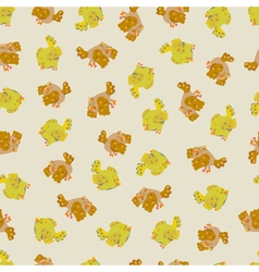 Cute sparrow seamless pattern vector