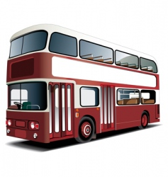 Double-decker bus vector