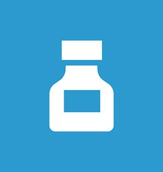 Drugs icon white on the blue background vector