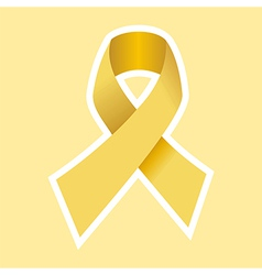 Gold cancer ribbon vector
