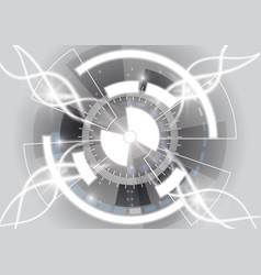 Gray circle technology background abstract vector