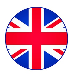 Great britain united kingdom flag round shape vector
