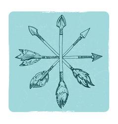hand drawn boho arrows vector image vector image