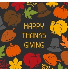 Happy Thanksgiving Day card design with holiday vector image vector image
