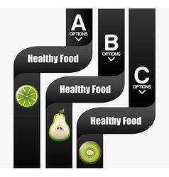 Healthy food infographics vector