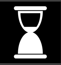 Hourglass the white color icon vector