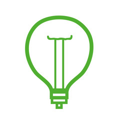 line power bulb light and energy electricity vector image