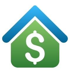 Loan real estate gradient icon vector