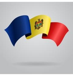 Moldovan waving Flag vector image vector image