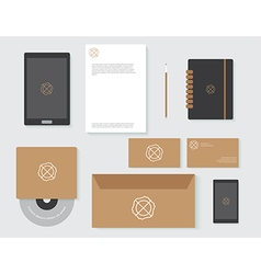 objects branding set vector image