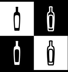 Olive oil bottle sign black and white vector