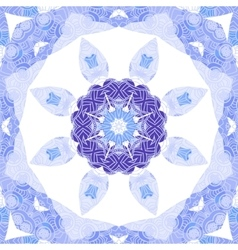 Purple and blue circle lace ornament snowflake vector image