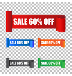 Sale 60 off sticker label on isolated background vector