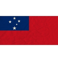 Samoa paper flag vector image vector image