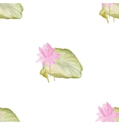 Seamless pattern with flowers lotus vector image vector image