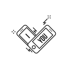 Smartphone i love you vector