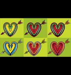 Snake body silhouette heart shape arrow symbol vector image vector image