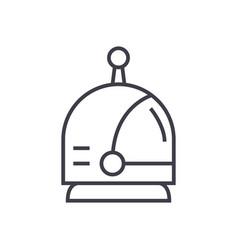 spaceman head line icon sign vector image