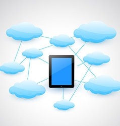 tablet and cloud vector image