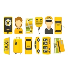 Taxi drive service icon vector