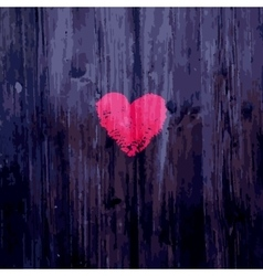 Valentine heart on wooden background vector