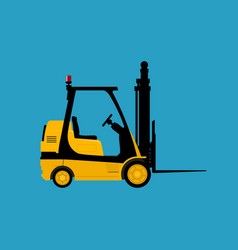 Yellow vehicle forklift isolated vector