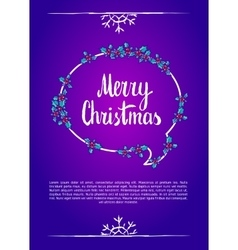Merry christmas calligraphy clip-art vector