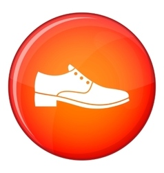 Men shoe icon flat style vector