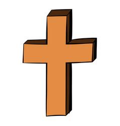 christian cross icon cartoon vector image