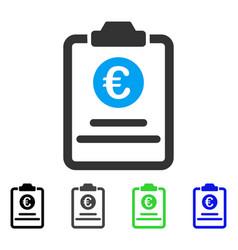 Euro prices pad flat icon vector