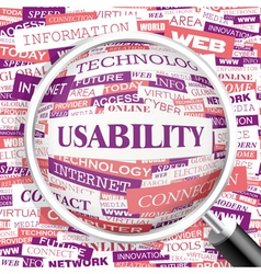 USABILITY vector image