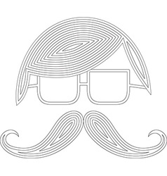 Moustache man icon vector