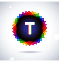 Spectrum logo icon letter t vector